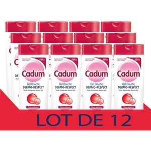 Lot de 12 gels douche Cadum Dermo Respect - 400ml