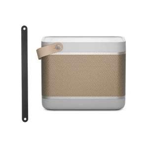 Enceinte portable Bang & Olufsen Beolit 20 et Leather Strap avec sangle supplémentaire (bang-olufsen.com)