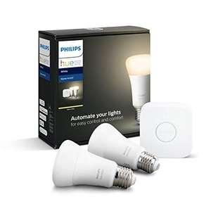 Kit Philips Hue - Pont + 2 ampoules connectées White E27