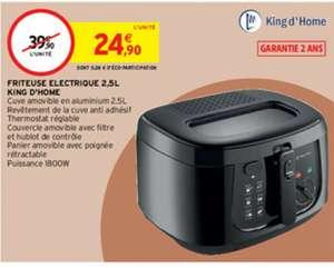 Friteuse électrique King d'Home - 2,5L, 1800W