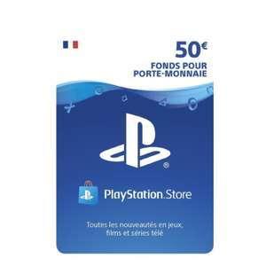 Carte Playstation Store de 50€ (Dématérialisée - Frais de transaction inclus - dundle.com)