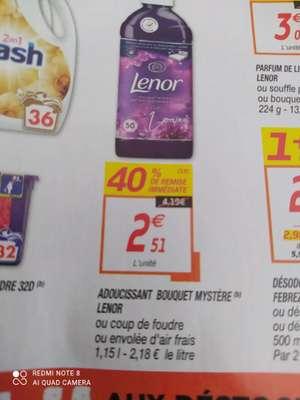Bidon d'assouplissant concentré Lenor La Collection - 50 lavages, différents parfums (via BDR)
