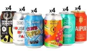 [Nouveaux clients] Pack de 24 canettes de bière Mega Pack IPA & Pale Ale - 6 sortes, 24x33 cl