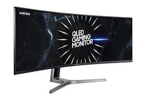 "Écran PC incurvé 49"" Samsung C49RG90 - DWQHD (5120x1440), QLED VA, 120 Hz, 4 ms, FreeSync 2, HDR 1000, USB (Frais d'importation inclus)"