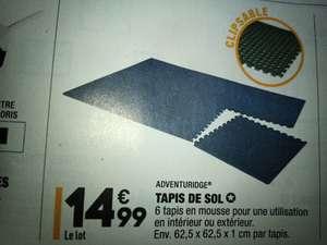 Tapis de sol en 6 pièces Adventuridge - en mousse, 62.5x62.5 cm