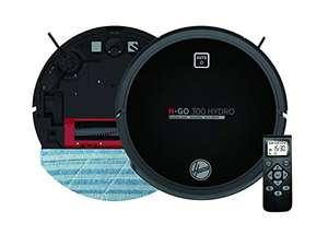 Aspirateur robot nettoyeur et laveur Hoover HGO320H - Autonomie de 2 Heures, 65dB, Noir