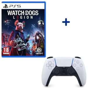 Manette Sony PS5 DualSense Blanche + Jeu Watch Dogs Legion