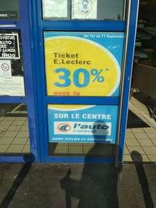 30% remboursés en tickets E.Leclerc sur tout le centre (hors atelier et réparation) - Leclerc Auto Bois-d'Arcy (78)