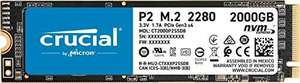 SSD interne Crucial P2 nvme Nand 3D - 2To