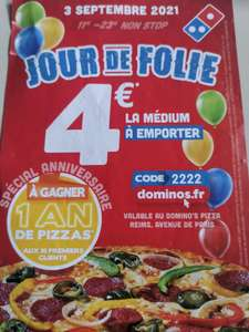 Pizza médium à emporter (Hors gamme signature) - Reims (51)