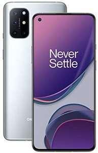 """Smartphone 6.55"""" OnePlus 8T 5G - full HD+ 120 Hz, SnapDragon 865, 12 Go de RAM, 256 Go, silver (Entrepôt Français)"""