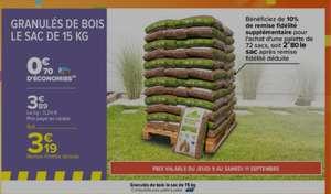 Palette de 72 sacs de granulés de bois - 70 x 15 kg (via 70.70€ sur la carte fidélité)