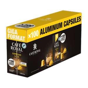 Boîte de 100 capsules de café Café Royal pour Nespresso