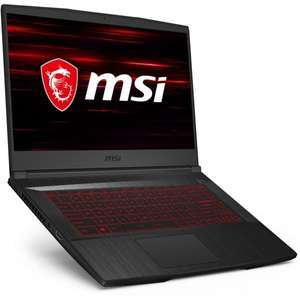 "PC portable 15.6"" full HD MSI GF65 Thin 10UE-034XFR - 144 Hz, i5-10200H, RTX-3060, 16 Go de RAM, 512 Go en SSD, sans OS"