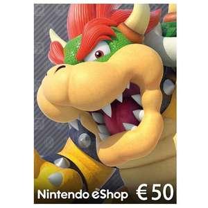 Sélection de cartes Playstation, Xbox et Nintendo en promotion - Ex : Carte cadeau Nintendo eShop de 50€ (Dématérialisée)