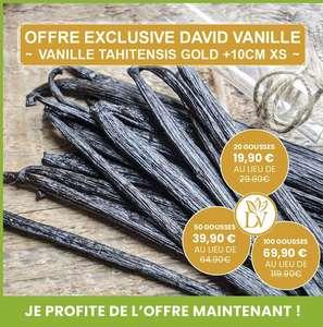 100 Gousses de Vanille Tahitensis Gold +10cm XS - Origine Papouasie Nouvelle Guinée