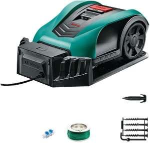 Tondeuse Robot Bosch Indego 350 - largeur de coupe de 19 cm, surface de tonte 350 m², avec accessoires (Occasion - Très bon)