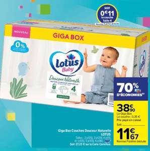 Giga Box Couches Douceur Naturelle Lotus - Taille T2 au T6 (via 27.23€ sur Carte Fidélité)
