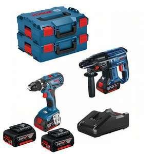 Perceuse-visseuse GSR 18V-28 + Perforateur 18V-21 BOSCH + 2 Batteries et L-BOXX