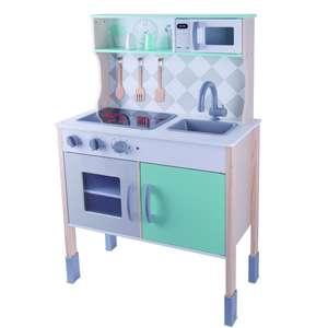 Cuisine en bois pour enfants - 5 accessoires, 92 x 60 X 30 cm