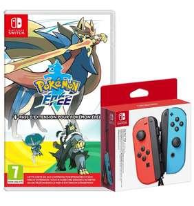 Manette Joy-Con Bleue et Rouge + Pokémon Épée avec Pass Extension Nintendo Switch