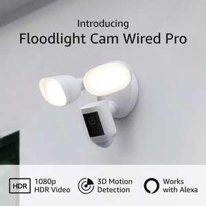 Caméra de surveillance extérieur Ring Floodlight Cam Wired Pro - Blanc
