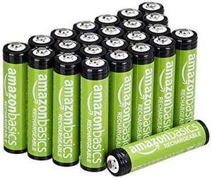 Lot de 24 Piles rechargeables Amazon Basics AAA pré-chargées - 800 mAh