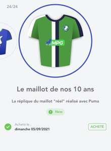 Maillot Collector 10 ans gratuit sur MPG (Dématérialisé - mpg.football)