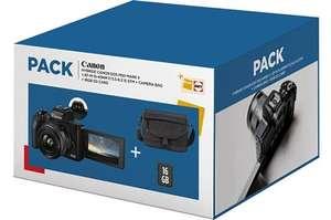 Appareil photo Canon EOS M50 Mark II + Objectif EF-M 15-45 MM F/3.5-6.3 IS STM + Etui + Carte SD 16Go