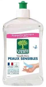 Sélection de produits 100% remboursés - Ex : Liquide-vaisselle Arbre Vert peau sensible 500ml (via 1,79 € en bon d'achat) - Eauze (32)