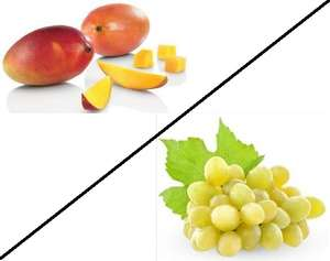 Mangue Catégorie 1 (la pièce) ou Raisin Blanc variété Italia (le kg)