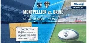 Billet gratuit pour le match de rugby Montpellier Hérault R / CA Brive Corrèze - le 11/09 (15 h), à Montpellier (34) - Montpellier-Rugby.com