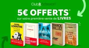 [Club R] 5€ offerts (500 superpoints) pour la vente de votre premier livre