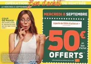 [Carte de fidélité] Bon d'achat de 50€ offert dès 100€ de courses (BA valable du 20 au 25 septembre) - Loison-sous-Lens (62)