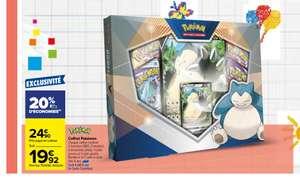 Coffret de cartes Pokémon Ronflex-V - avec 4 booters + 1 carte promo + 1 carte géante + 1 carte à code (via 4.98€ sur la carte de fidélité)