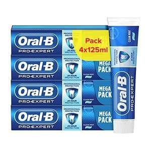 Lot de Dentifrices Oral-B Pro-Expert Protection Professionnelle - 4x125ml (Via abonnement + coupon)