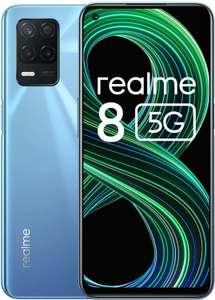 """Smartphone 6.52"""" Realme 8 5G - full HD+ 90 Hz, Dimensity 700, 4 Go de RAM, 64 Go, bleu"""