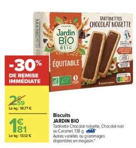 Lot de 2 paquets de biscuits Jardin Bio Équitable (via Shopmium)