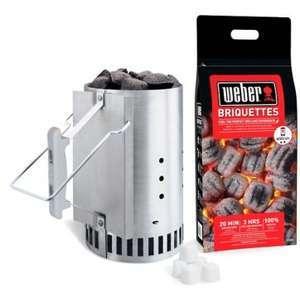 Kit cheminée d'allumage Weber RapidFire- avec sac de briquettes (2 kg) + 6 cubes d'allume-feux (+ 0.72€ en Rakuten Points) - Boulanger