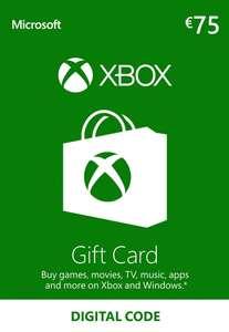 Carte Xbox Live de 75€ pour 64.99€ (dématérialisé)