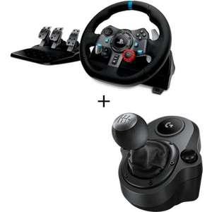 Pack volant + pédalier Logitech Volant G29 + levier de vitesse Driving Force Shifter