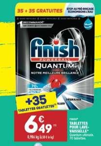 Paquet de 70 pastilles lave-vaisselles Finish Powerball Quantum Ultimate