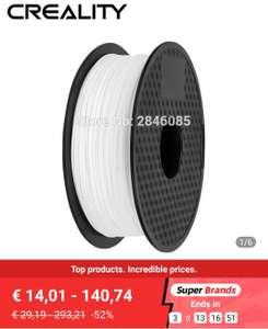 Filament PLA Creality pour Imprimante 3D - 1.75 mm, 1 kg, Plusieurs coloris (Entrepôt Allemagne)
