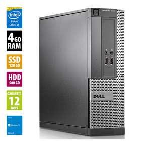Tour PC Fixe Dell Optiplex 3020 SFF - Core i5-4570 (3.20GHz), 4 Go RAM, 500 Go HDD + 128 Go SSD, Windows 10 Home (Reconditionné - Grade B)