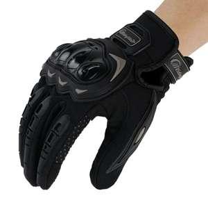 Gants de protection pour moto en PVC - noir