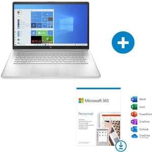 """PC portable 17.3"""" full HD IPS HP 17-cn0301nf i5-1135G7, 8 Go de RAM, 512 Go en SSD, Windows 10 + abonnement d'un an à Microsoft 365 (démat.)"""