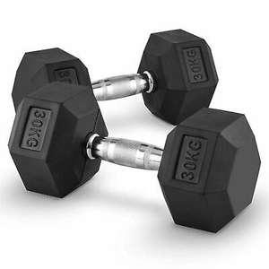 Paire d'haltères Capital Sports Hexbell - 2x30 kg