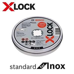 10 Disque Bosch X-LOCK 125mm pour inox - Alésage : 22,23 mm, Épaisseur 1 mm