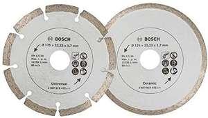 Lot de 2 disques diamantés pour meuleuse angulaire Bosch - Ø125 mm