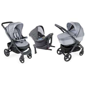 Kit pousette Chicco Trio StyleGo Up i-Size Bebecare - Light Grey